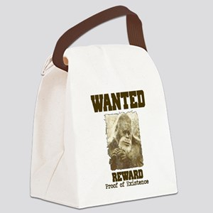 wanted sasquatch  Canvas Lunch Bag