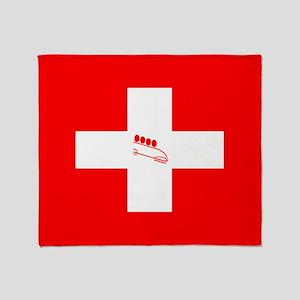 Team Bobsled Switzerland Throw Blanket