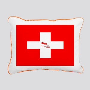 Team Bobsled Switzerland Rectangular Canvas Pillow