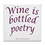 Wine Bottled Poetry Tile Coaster