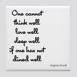 Virginia Woolf Quote Tile Coaster