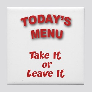 Today's Menu Tile Coaster