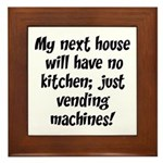 Kitchen Vending Machines Framed Tile