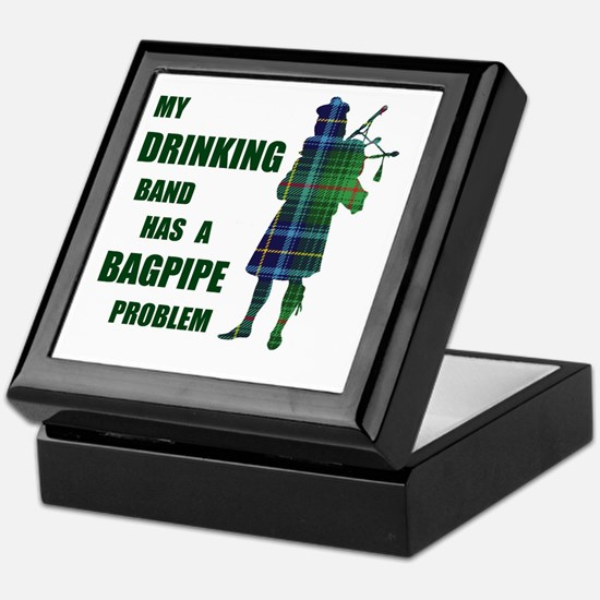 Bagpipe problem Keepsake Box