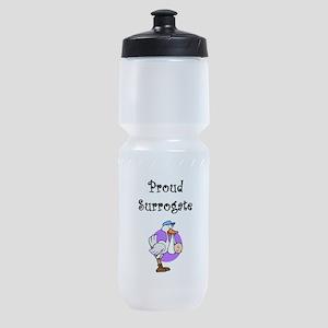 proudsurrostorkblacktxtClrBck Sports Bottle