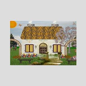 Sun Cottage Rectangle Magnet