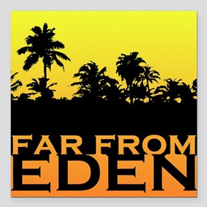 Far From Eden - Yellow Orange Gradient Square Car