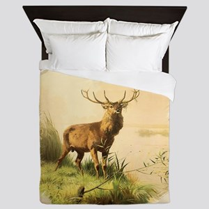 Young Bull Elk Queen Duvet