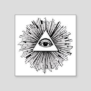 "Illuminati Pyramid Eye Square Sticker 3"" x 3"""