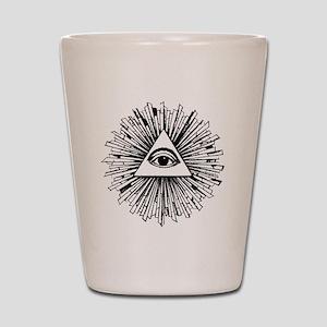 Illuminati Pyramid Eye Shot Glass