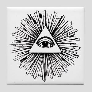 Illuminati Pyramid Eye Tile Coaster