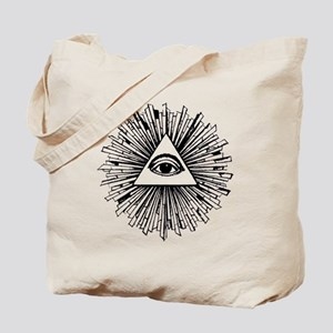 Illuminati Pyramid Eye Tote Bag
