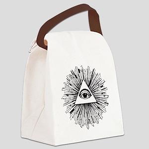 Illuminati Pyramid Eye Canvas Lunch Bag