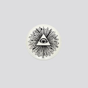 Illuminati Pyramid Eye Mini Button