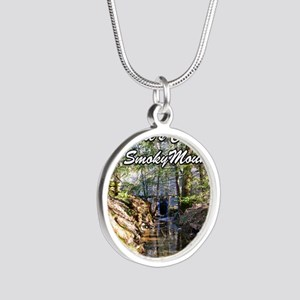 Great Smoky Mountains Calend Silver Round Necklace