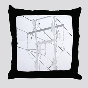 5 Climbers White Decal for Dark Color Throw Pillow