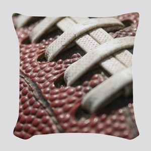Football  2 Woven Throw Pillow