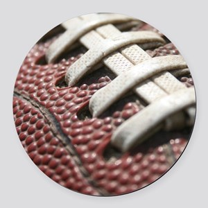 Football  2 Round Car Magnet