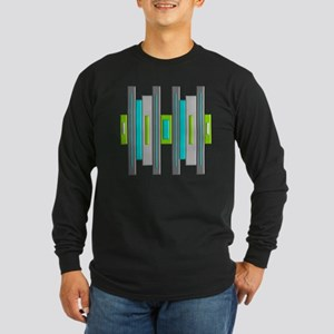 Mid Century Modern Long Sleeve Dark T-Shirt