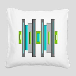 Mid Century Modern Square Canvas Pillow