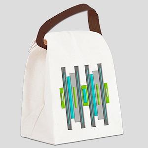 Mid Century Modern Canvas Lunch Bag