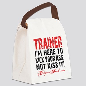 TRAINER - KISS IT - WHITE Canvas Lunch Bag