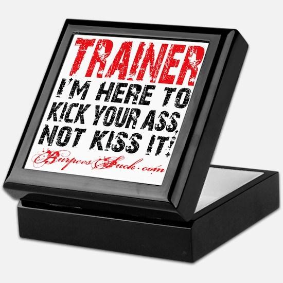 TRAINER - KISS IT - WHITE Keepsake Box