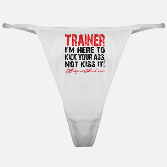 TRAINER - KISS IT - WHITE Classic Thong