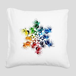 Betta Color Swirl Square Canvas Pillow