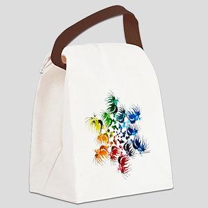 Betta Color Swirl Canvas Lunch Bag