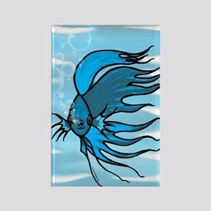 Blue Betta Rectangle Magnet