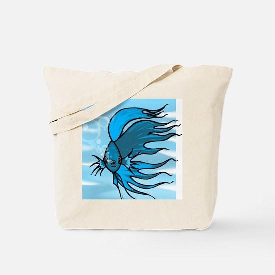 Blue Betta Tote Bag