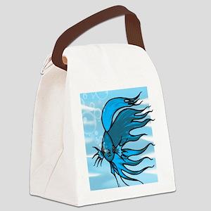 Blue Betta Canvas Lunch Bag