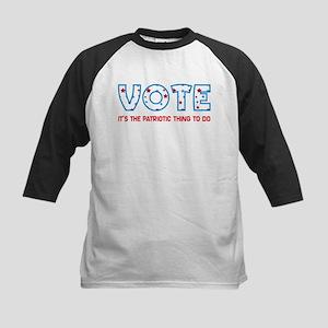 Patriotic Vote Kids Baseball Jersey
