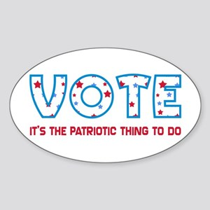 Patriotic Vote Oval Bumper Sticker