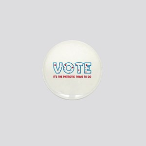 Patriotic Vote Mini Button