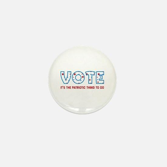 Patriotic Vote Mini Button