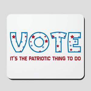 Patriotic Vote Mousepad