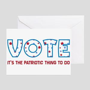 Patriotic Vote Greeting Cards (10 pk)