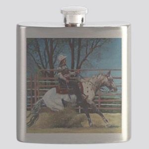 Appaloosa Reining Horse Flask