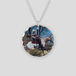 Appaloosa Reining Horse Necklace Circle Charm