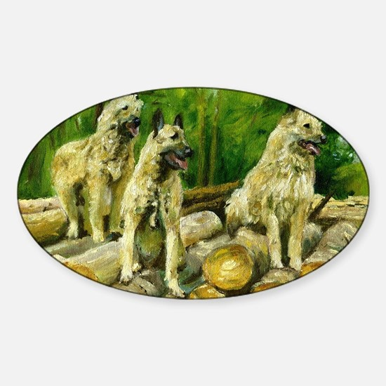 Belgian Laekenois Dog Sticker (Oval)