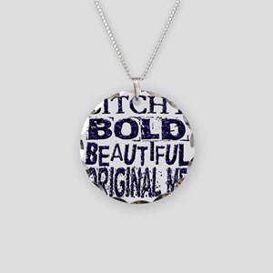 Humorous Funny Bitchy Necklace Circle Charm