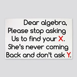 Dear Algebra 3'x5' Area Rug