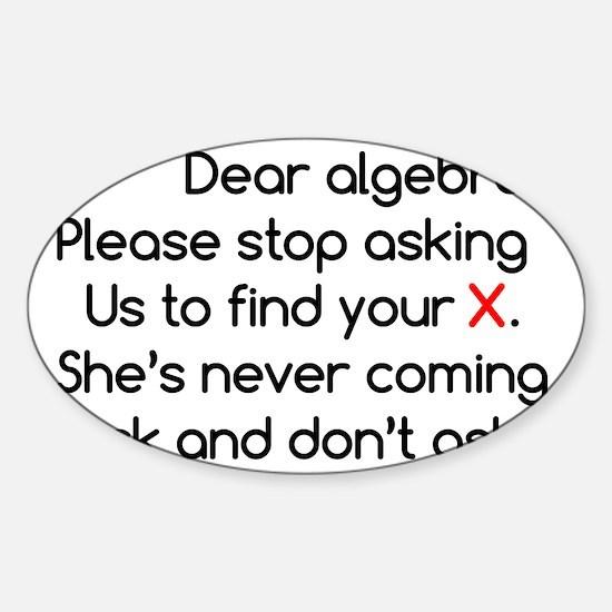 Dear Algebra Sticker (Oval)