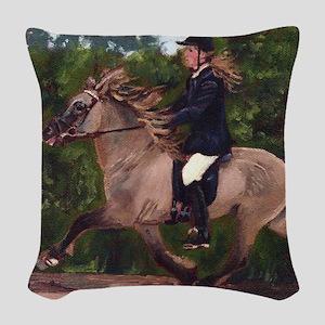 Icelandic Horse Woven Throw Pillow