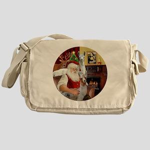 Santa with his Mama Llama  Baby Messenger Bag