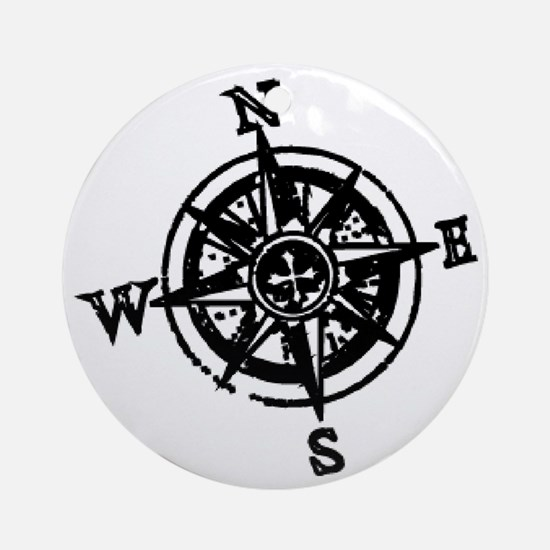 Large compass Round Ornament