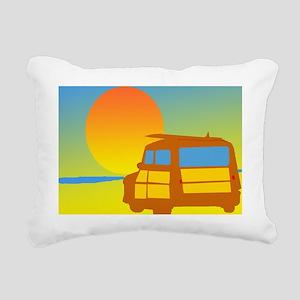 Woodies and Sunset Rectangular Canvas Pillow