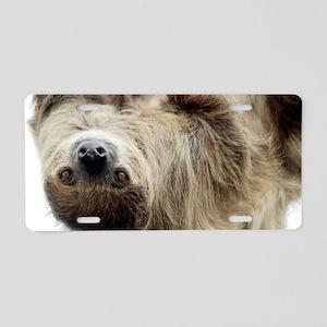 Sloth Aluminum License Plate